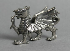 Detailed Miniature Welsh Dragon in Fine Pewter