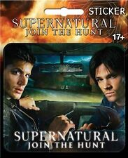 Supernatural TV Series Sam and Dean in their Car Peel Off Sticker, NEW SEALED