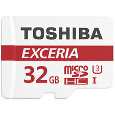 Toshiba Exceria 32GB Micro SD SDHC Class 10 memory card up tp 90MB/S Free adp