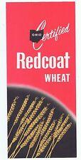 Vintage 1963 Ohio Certified Redcoat Wheat Seed Advertising Brochure Grain Farm