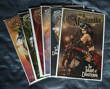 LADY MECHANIKA TABLET OF DESTINIES SET/6 BLUERAINBOW L/E 500 BENITEZ MCTEIGUE NM