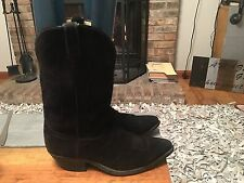 Code West Black Suede Western Boots Mens Size 10 EE