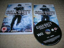 CALL OF DUTY : WORLD AT WAR - Rare NINTENDO Wii Game ! Wii