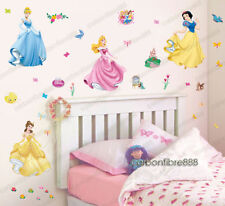 37pcs Disney Princess Kids Nursery Decor Girls Wall Stickers Decal Art Mural UK