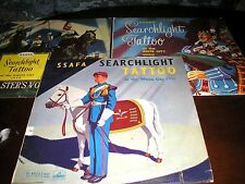 """LOT  3 LP'S-MILITARY BAND SEARCHLIGHT TATTOO  WHITE CITY 1954/6/8  10"""" LP'S"""