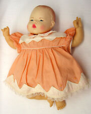 "EA75 Vintage Ideal Baby Thumbelina 18"" Doll 1983 as is for parts"