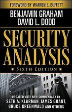 Security Analysis 6th Edition by Benjamin Graham,David Dodd