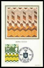 GB UK MK 1982 TEXTIL-MUSTER KUNST ART FOSTER CARTE MAXIMUM CARD MC CM bb09