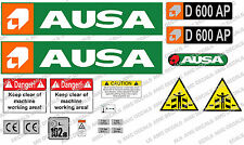 AUSA D600 AP DUMPER DECALS STICKER SET
