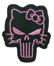 Hello Kitty Punisher Velcro  2.25 inch TACTICAL Morale VELCRO PATCH