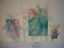 Carolyn Utigard Thomas Angel Watercolor Prints Set of 3 Signed & Matted (New)