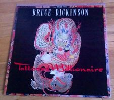 "Bruce Dickinson - Tattooed Millionaire 12"" Vinyl & Poster Sleeve Iron Maiden"