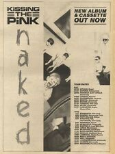21/5/83PN20 ADVERT: KISSING THE PINK ALBUM NAKED &TOUR 15X11