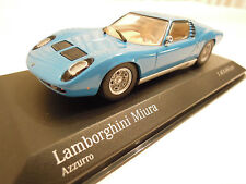 Minichamps Lamborghini Miura Blue 1/43 Ltd. Edition, New in Box, Ships From USA