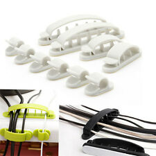 10pc Plastic Cable Clips Cord Wire Line Organizer Ties Fixer Fastener Holder