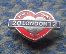 NOC POLAND OLYMPIC LONDON 2012 POLISH TEAM PIN BADGE
