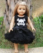 "18"" American Girl Doll Pirate Skull Pettiskirt Halloween Clothes Tutu Outfit"