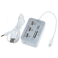 3Port USB HUB Lightning Camera Connection Kit SD/TF Card Reader Adapter For iPad