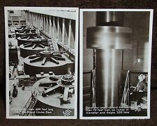 LOT OF 2  1947 RPPC OF THE GENERATORS AND THE GENERATOR ROOM OF THE COULEE DAM