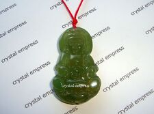 Feng Shui - Green Agate Goddess Kuan Yin Necklace