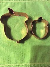 TWO ACORN COPPER COOKIE CUTTERS