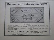 2/1931 PUB P VIET DEMARREUR AUTO-VIREUR MOTEUR BILLANCOURT ORIGINAL FRENCH AD