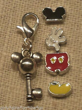 *MICKEY MOUSE* Floating Charm Set & Origami Owl Stardust Crystal
