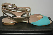 NIB EMPORIO ARMANI $575 LEATHER FLATS SHOES  SZ US 8.5 EU 38.5 MADE IN ITALY