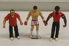 Jakks Pacific Rocky 3 Rocky, Apollo, Paulie Action Figures Set Free Shipping