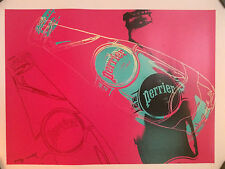 Perrier water poster by Andy Warhol