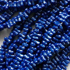 100 x Czech Glass Chip Beads - Asymmetric style - French Navy -  8mm.