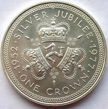 Isle of Man 1977 Silver Jubilee Crown Silver Coin,Proof