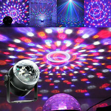 LED Full color 3W RGB Crystal Ball Rotating Stage Light for Party Disco DJ Pub