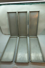 ALUMINUM BAKING SHEET COMMERCIAL SET 6 ONE-SIXTH SIZE 17inX6in COOKIE PAN VTG