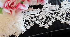 Amazing White Venise flower lace trim - price for 1 yard