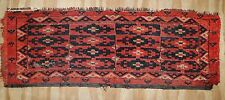 ca.1920 OLD ANTIQUE TURKMAN ERSARI BESHIR TORBA 1.3X3.3 ft
