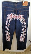 Men's EVISU denim jeans size 40W X 33L