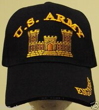LICENSED U.S. ARMY CORPS OF COMBAT ENGINEER USACE CoE DEFENSE COMMAND CAP HAT OS