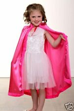 NEW Girl Child PRINCESS CAPE Hooded Cloak Coat Halloween Costume HOT PINK ANNA ⭐