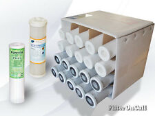 10 Sediment and 10 Carbon Block Filters for Reverse Osmosis Water System RO DI