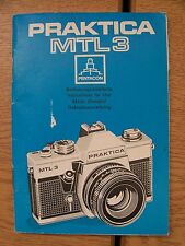 Instructions CAMERA PRAKTICA MTL 3 English German French & Dutch