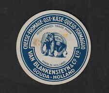 Ancienne  petite  étiquette  Fromage Hollande BN5636 Eléphant