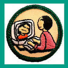 CYBER GIRL SCOUT Junior Jade Girl Scout Badge Patch 2001 NEW Jr. Multiples