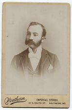 CABINET CARD MAN IN FORMAL ATTIRE. I.D. J.W. MCGUIRE. BALTIMORE, MARYLAND.