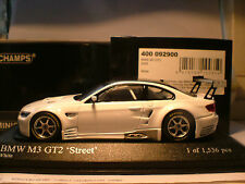 WOW RARE MINICHAMPS 1/43 2009 BMW M3 GT2 STREET(E92) ONLY 1536 PCS WORLDWIDE NLA