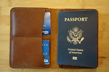 ALL LEATHER PASSPORT AND ID HOLDER handmade with premium leather