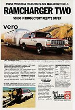 vtg DODGE RAMCHARGER 1983 print ad magazine page clipping car automobile truck