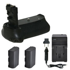 Vivitar Battery Grip for Canon 60D + 2 LP-E6 Batteries +Rapid Travel Charger