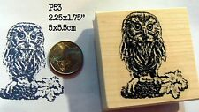 Owl rubber stamp owlet WM P53