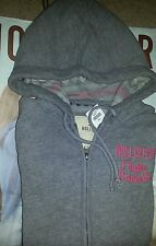 NWT Hollister by Abercrombie Women's GRAY Grandview Hoodie, Size LARGE